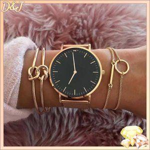 💎✨ Gold Bracelet Set